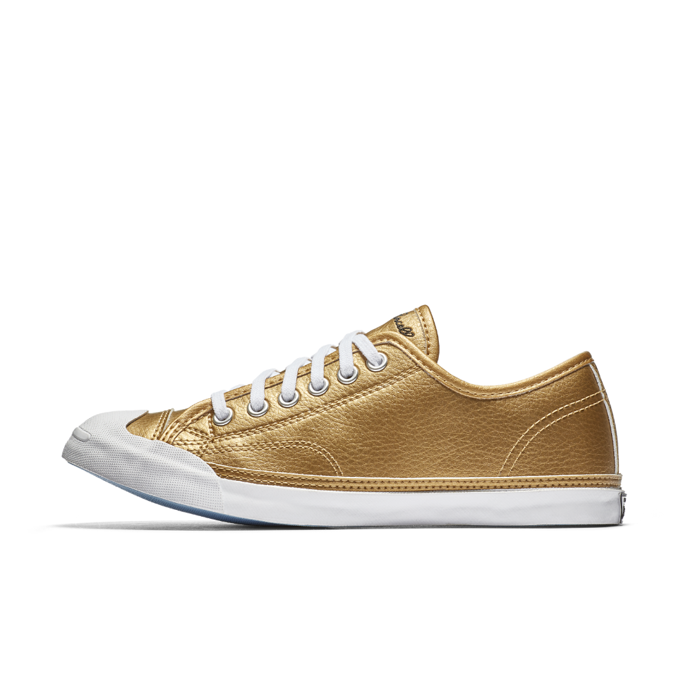 ec21f9480243 Converse Jack Purcell LP Metallic Leather Low Top Women s Shoe Size ...
