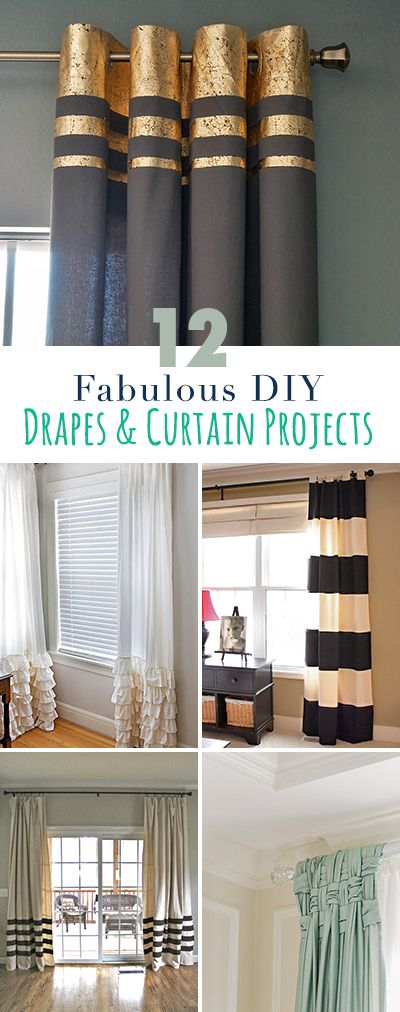 12 Projects for Fabulous DIY Drapes \ Curtains Cortinas, Hogar y - Cortinas Decoracion