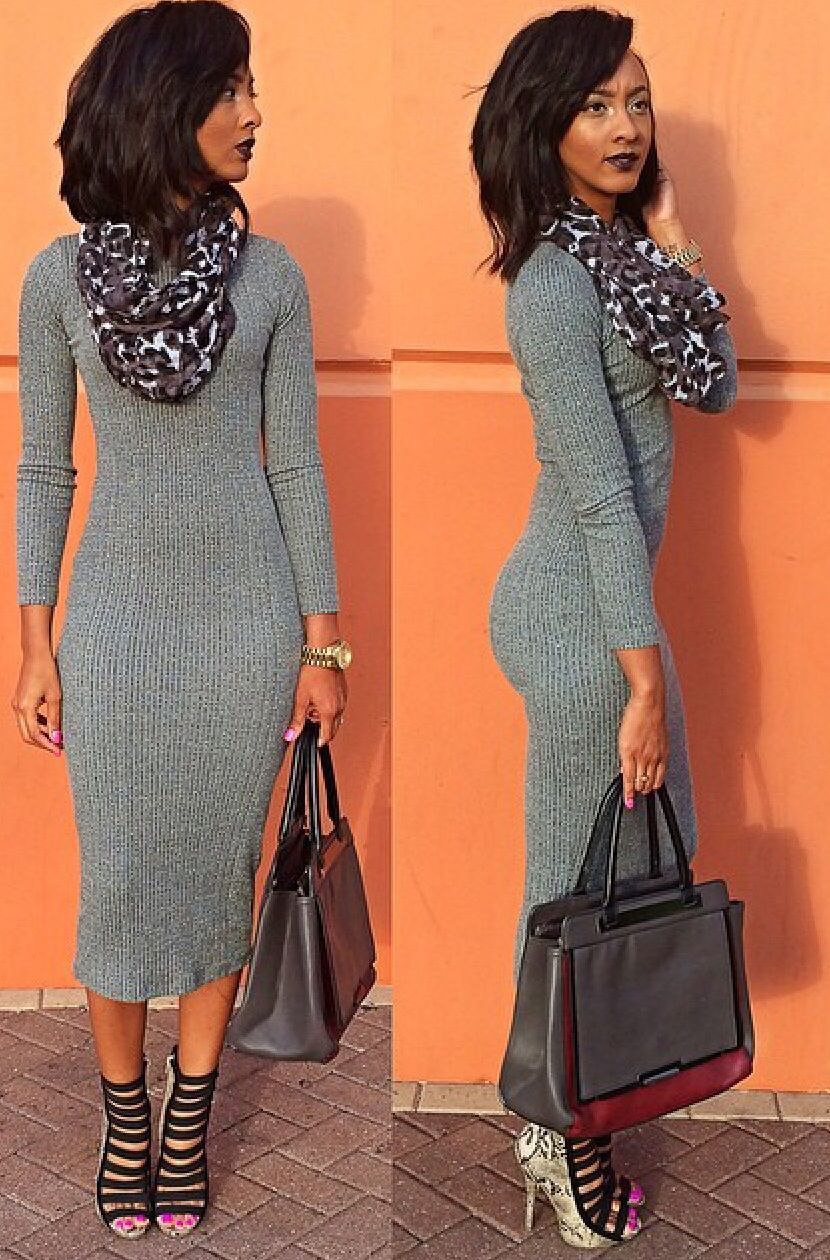 6398458bda1 Love this length in a sweater dress!! More