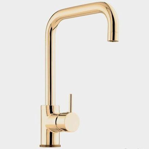 Vola Arne Jacobsen Kv1 Kitchen Mixer Natural Brass 1968 Kitchen Faucet Kitchen Taps Kitchen Mixer