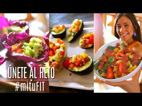 3 Recetas de Comida Saludables - #mituFIT con Rawvana - YouTube  Hice la ensalada de mango con tomate, zanahoria y pepino en tacos de lechuga a romana, DELICIOSO!! 100% recomendado