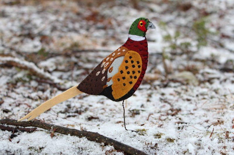 The Gaudy Ring-neck Pheasant #feltbirds