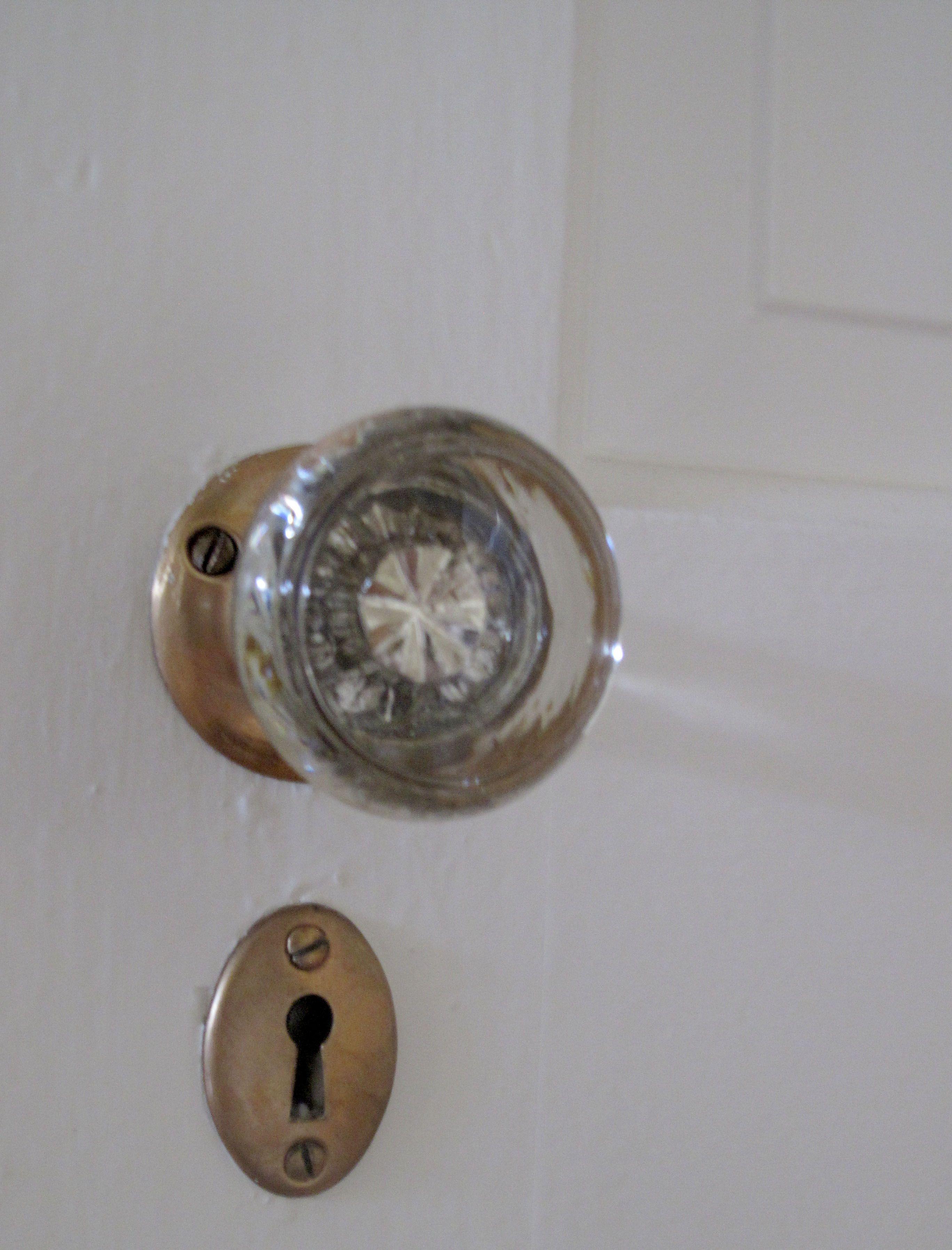Glass Globe Doorknob copper/brass glass door knob 1939 house | my vintage | pinterest
