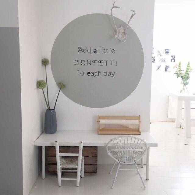 Interieur trend cirkel op de muur b rnev relse - Kindertafel wand ...