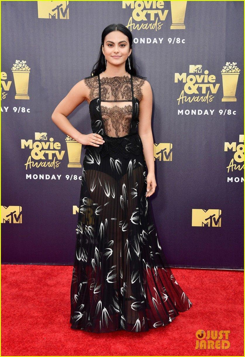 241c1d7593 Lili Reinhart   Camila Mendes Join  Riverdale  Ladies at MTV Movie   TV Awards  2018