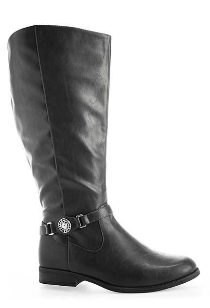 13c735e5dd56 Brescia Medallion Riding Boot Shop wide   extra wide width and calf boots  in sizes 7-13W at avenue.com.
