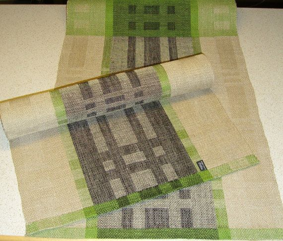 Spring Table Runner linen by WovenProducts on Etsy, $53.00