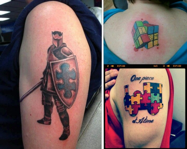 One Piece At A Time Autism Tattoos Inspirational Tattoos
