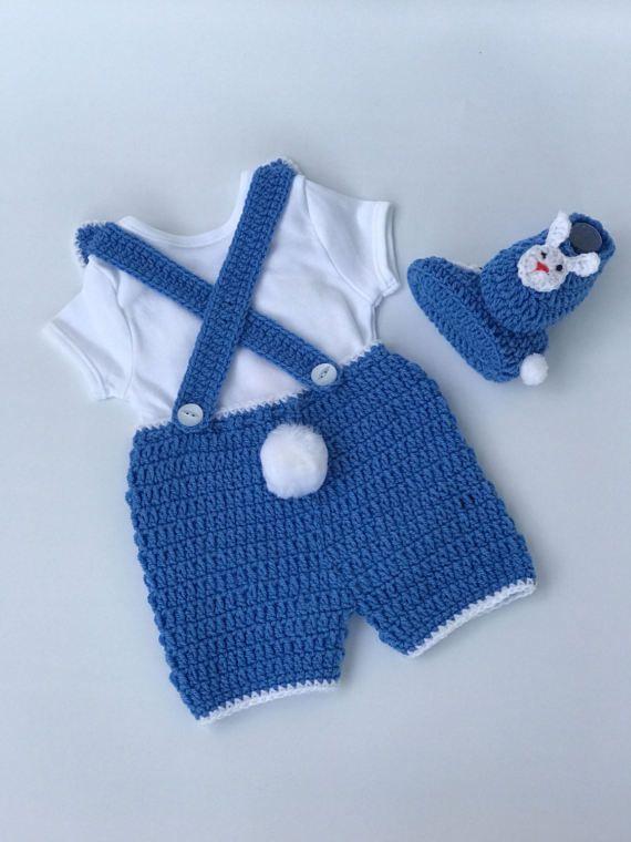 Crochet patterns, Baby boy Crochet pattern, baby Bunny pattern, baby ...