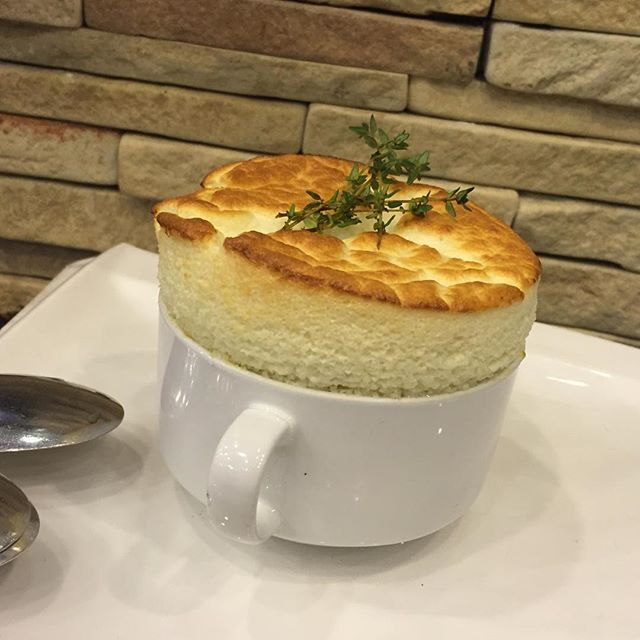Parmesan honey souffle