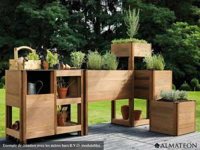 un potager sur la terrasse on adore potager terrasse. Black Bedroom Furniture Sets. Home Design Ideas
