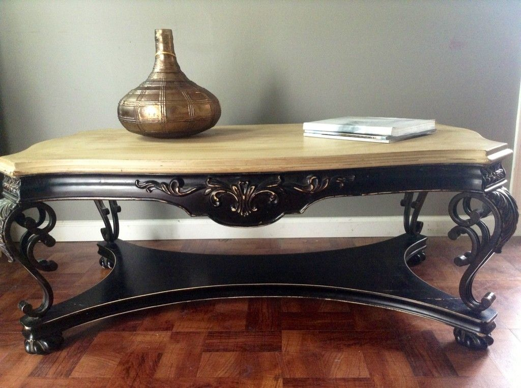 Ornate Distressed Coffee Table 245 Silver Spring