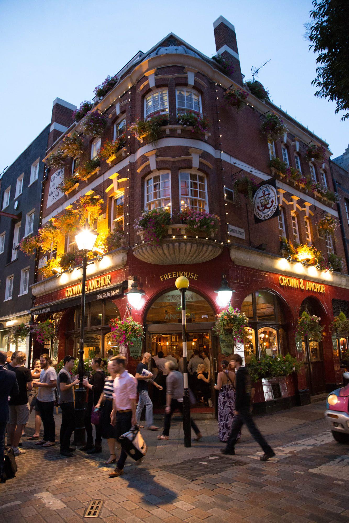 Crown & Anchor pub, Covent Garden, London   * ▫ europe travel ...