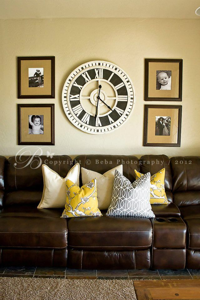 Pin By Caramyl Drake On For The Home Brown Living Room Decor Yellow Living Room Living Room Leather