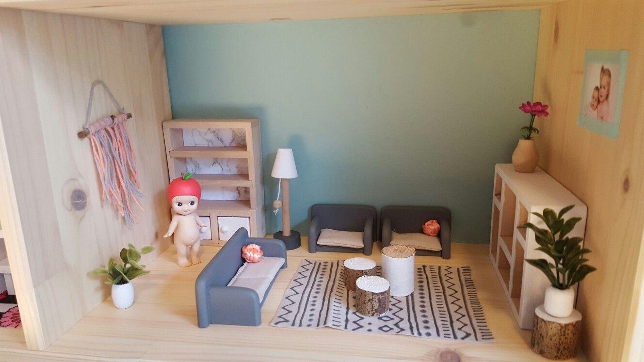 Dollhouse, poppenhuis, sonny angel, diy dollhouse, living room ...