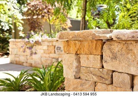 Basket Range Sandstone Sawn Wallers Stonework By: JKB Landscaping ...