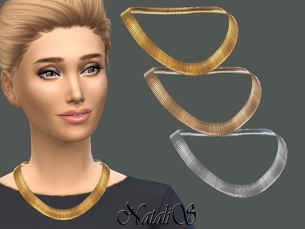 nouvelle sélection grande vente de liquidation style de mode The Sims Resource: Flat Chain Necklace by NataliS • Sims 4 ...