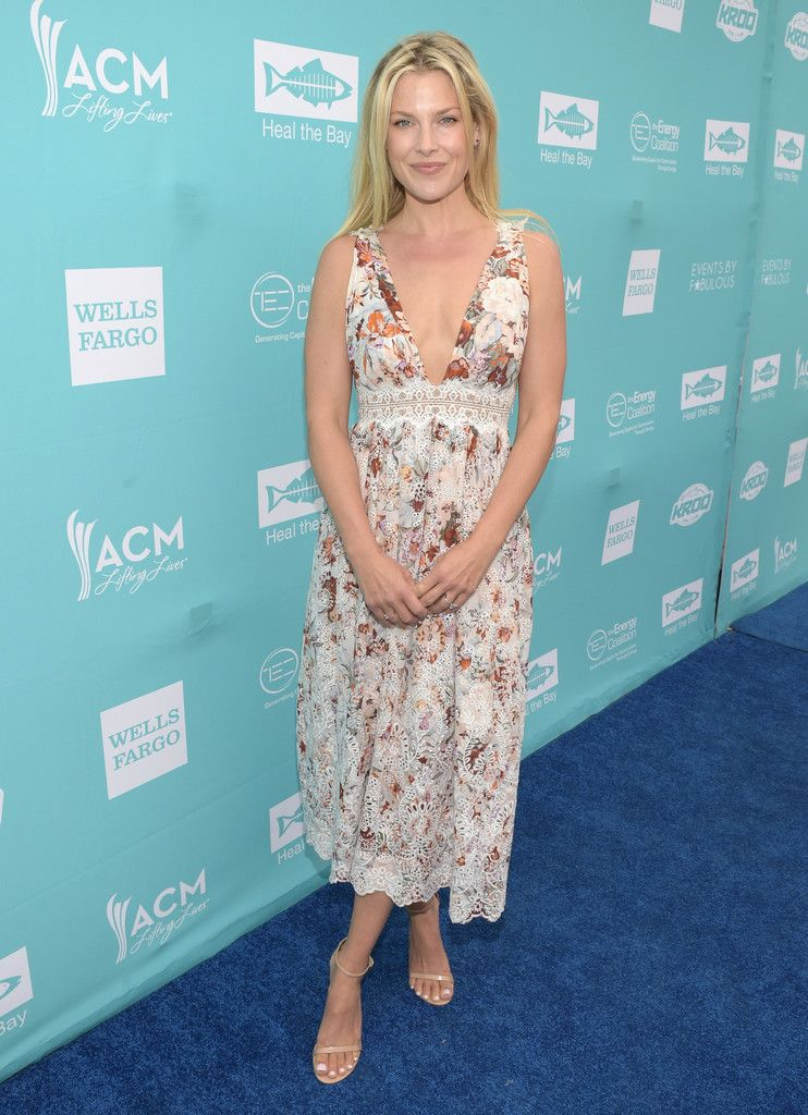 c7cc43809 Ali Larter Strappy Sandals - Ali Larter completed her look with basic nude  ankle-strap heels.
