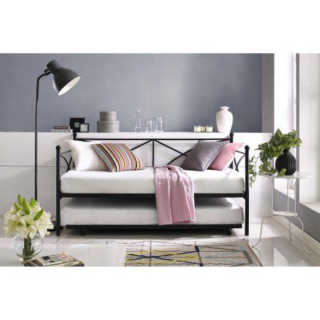 Mainstays Monaco Daybed and Trundle, Black - Walmart.com   Lake ...