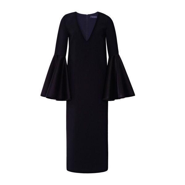 flared sleeves mid dress - Blue Ellery OdvhTe