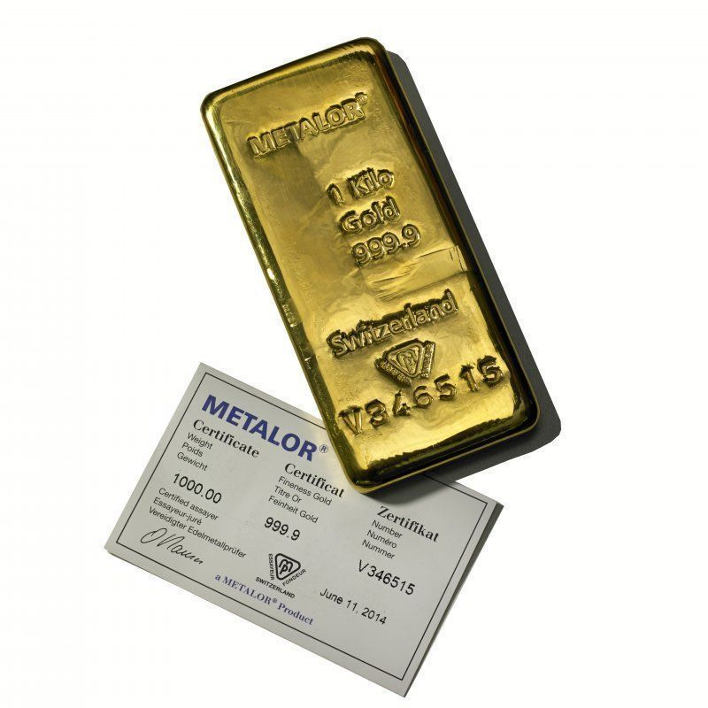 Metalor 1 Kilo Gold Bullion Bar 14kgold Goldinvesting Goldcoins Gold Bullion Bars Gold Bullion Gold