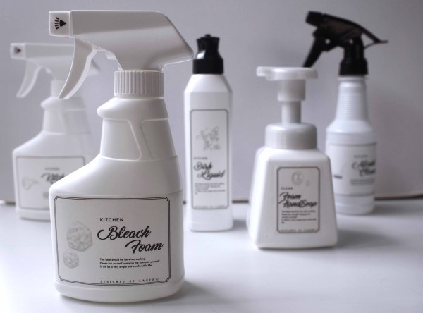 お掃除ラベルシリーズ キッチンver ラベル ハンドソープ アルコール