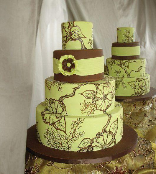 Green Wedding Cakes - Wedding Cake Photos, Wedding Cake Pictures