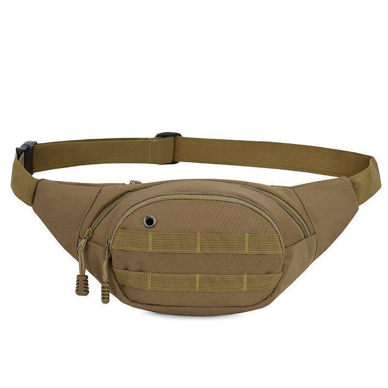 Multi-function Pockets Outdoor Sport Fanny Pack Bag Black Women Men Waist Packs Bag
