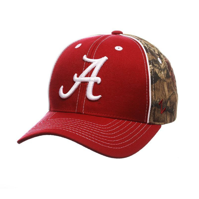 Adult Zephyr Alabama Crimson Tide Hideaway Snapback Cap, Red