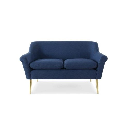 Magnificent Brika Home Settee In Dark Sapphire Blue In 2019 Products Machost Co Dining Chair Design Ideas Machostcouk
