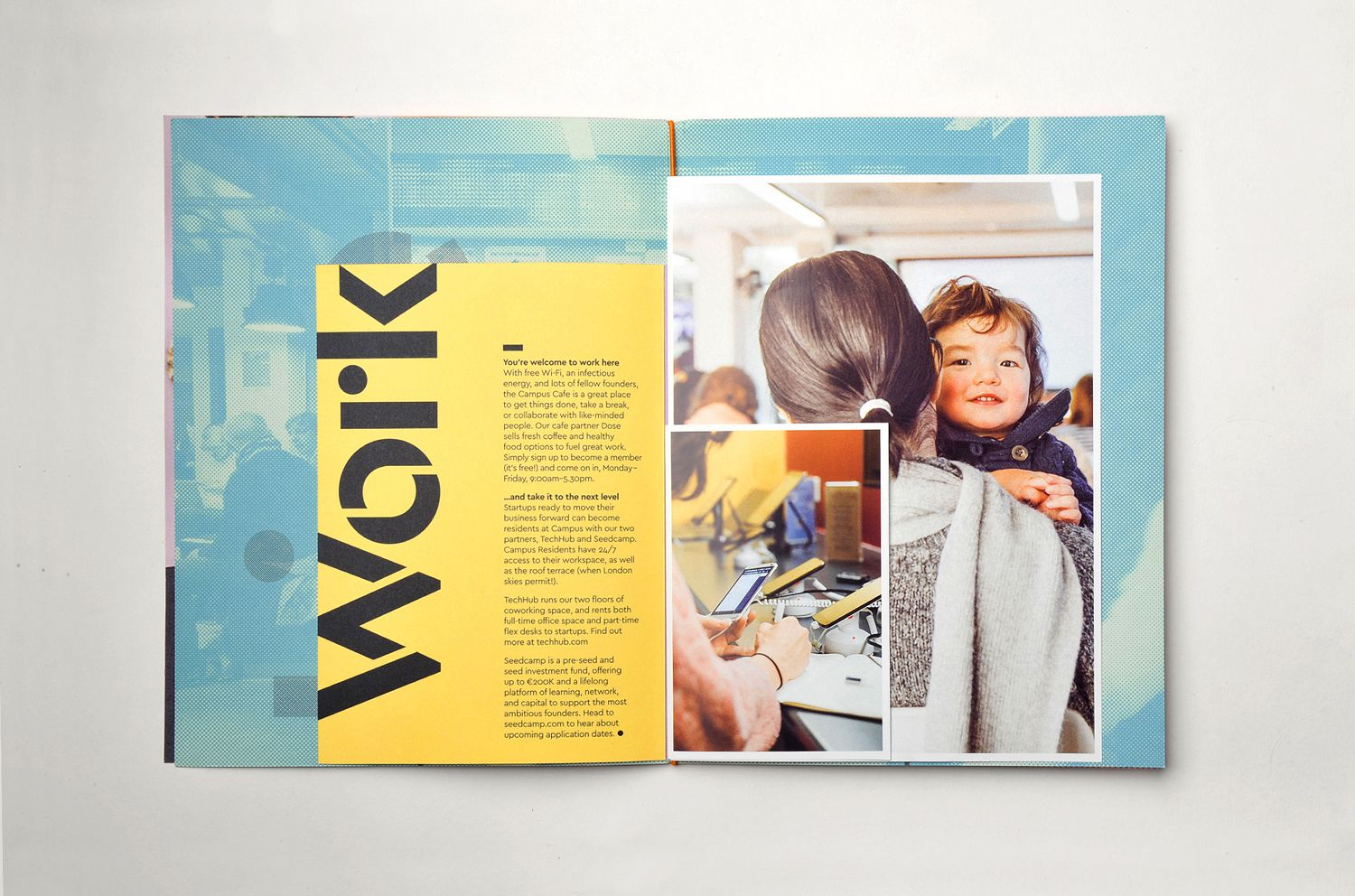 Brand identity and brochure design by MultiAdaptor for Google s co working and event space concept