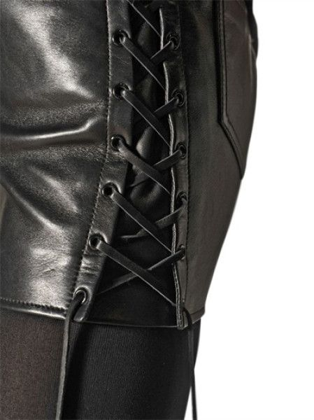 saint-laurent-black-lace-up-nappa-leather-mini-skirt-product-2 ...