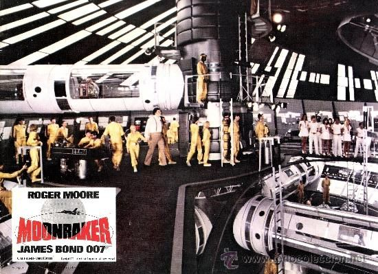 MOONRAKER JAMES BOND 007 FOTOCROMO ORIGINAL DEL ESTRENO DE LA PELICULA LOBBY CARDS ROGER MOORE