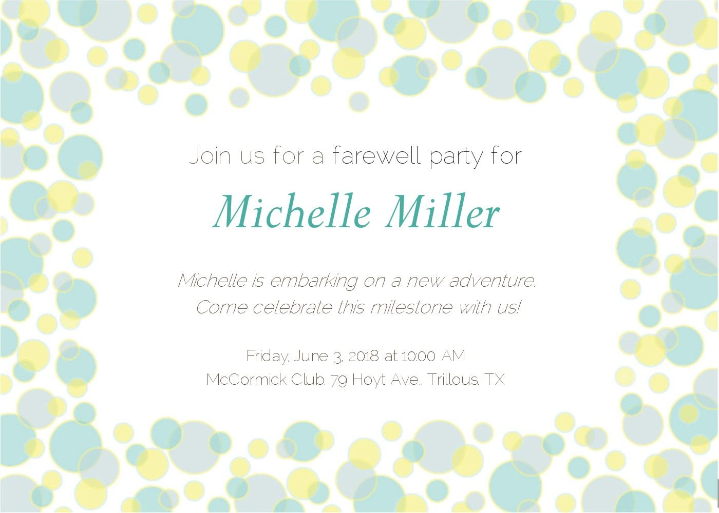 This Cheerful Farewell Invitation Is A Delightful Way To Say Goodbye
