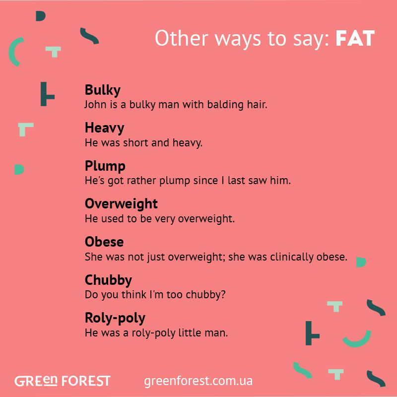 Nice words for fat
