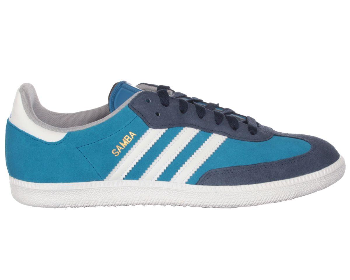 Adidas Samba Blue White Suede Trainers £45  3239da12e876