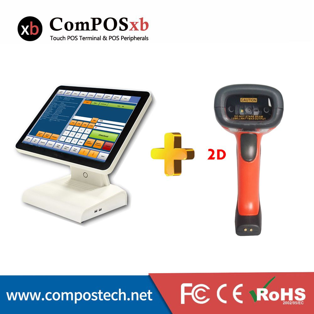 Good Design High Quality Pos1619 Touch Screen System All In One With Bluetooth 2d Waterproof Barcode Scanner Computer Peripherals Barcode Scanner Touch Screen
