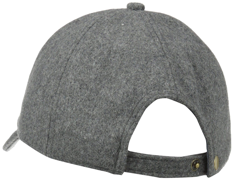6cb2946333714 Women s Wool Baseball Hat with Adjustable Back - Charcoal - CM11CZVGAZR   Hats  Baseball Caps