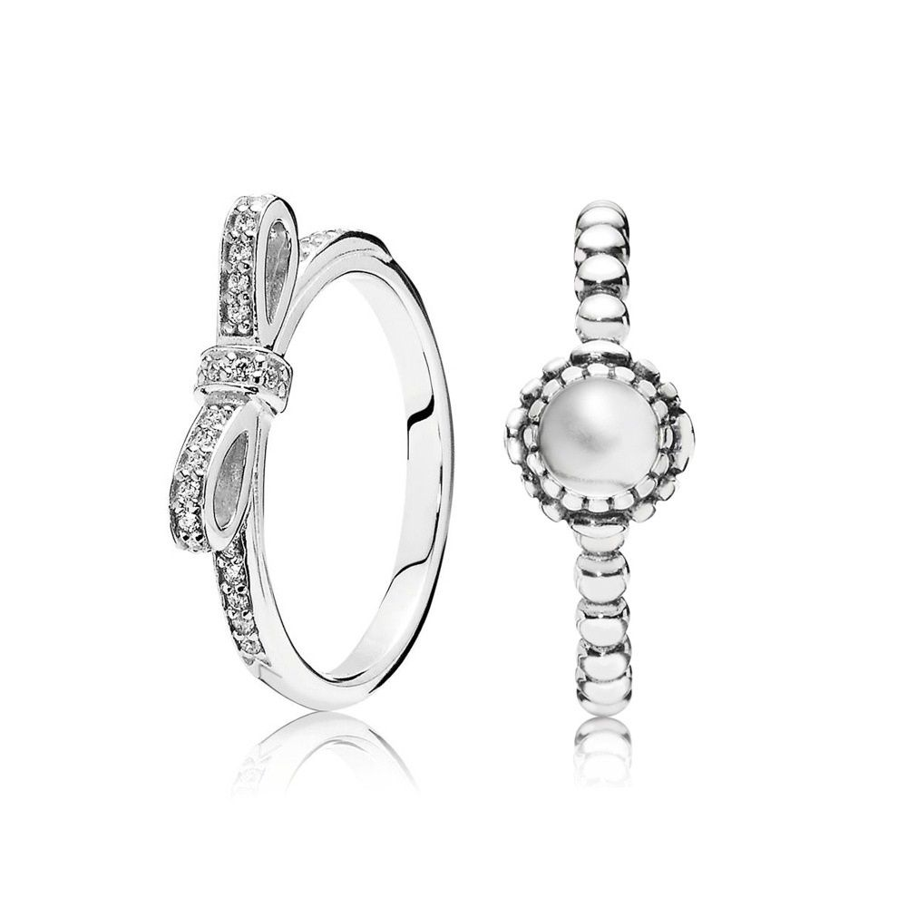 ac2472c42 Pandora Alluring April Birthstone Ring Stack | jewelry in 2019 ...