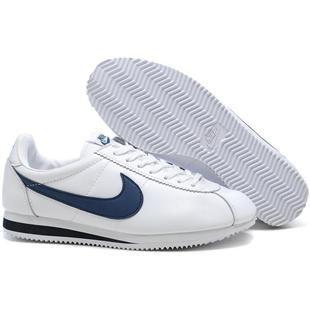 Men Nike Cortez Leather White Blue | Nike cortez leather ...