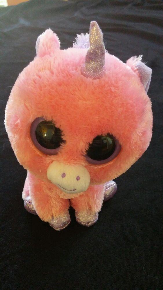 Ty Beanie Boo 6 Inch Pink Unicorn Retired MAGIC Big Eyes  Ty ... 6f8b07bc4e33