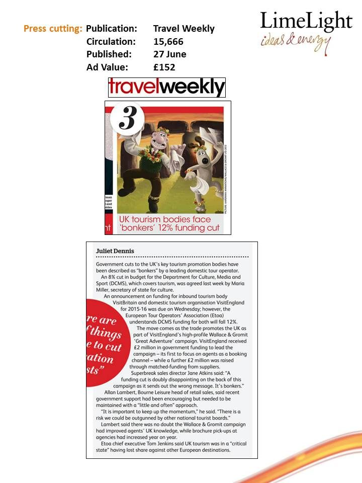27 June - Travel Weekly - BL UK Tourism 1