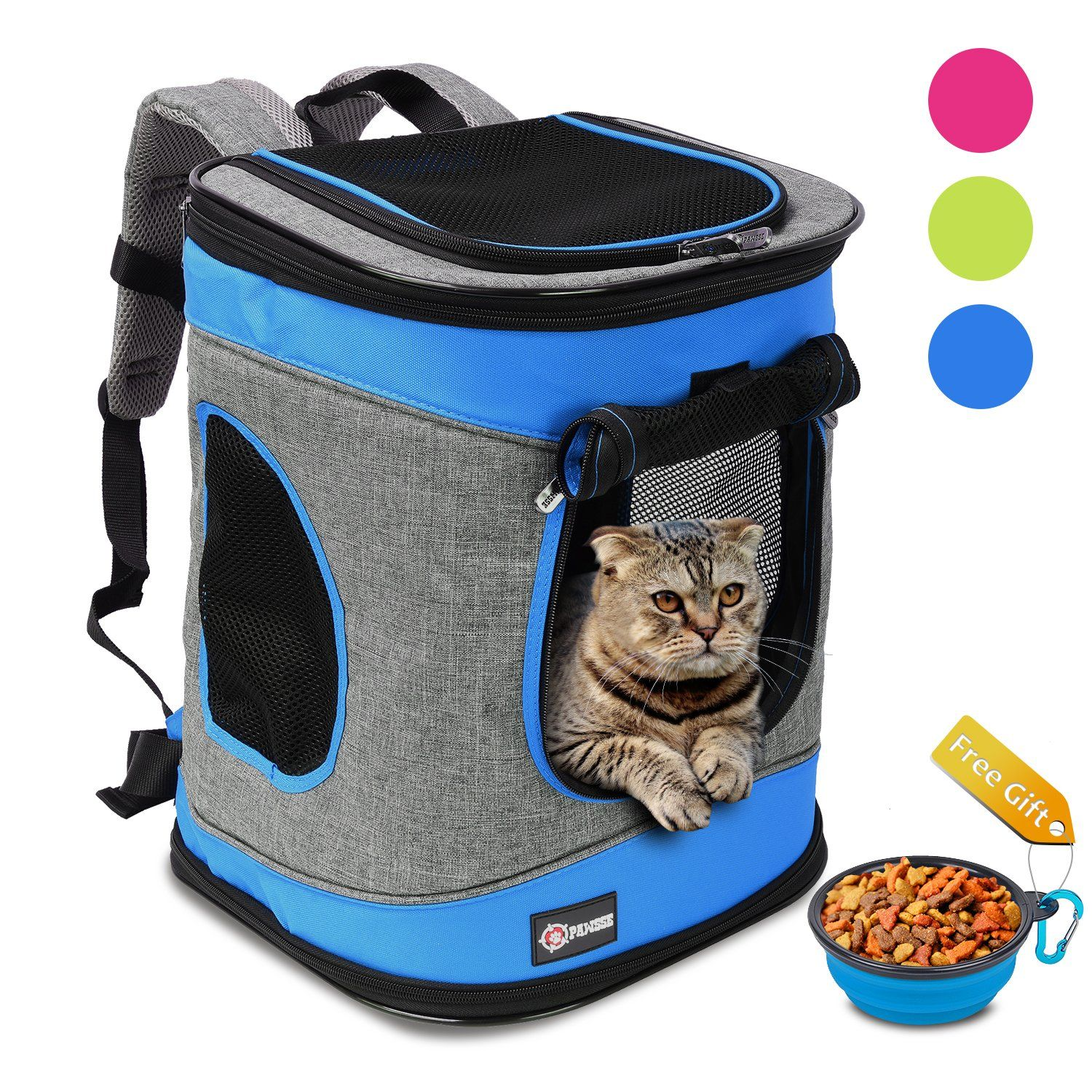 Pawsse Pet Carrier Backpack for Dogs and Cats up to 15 LBS