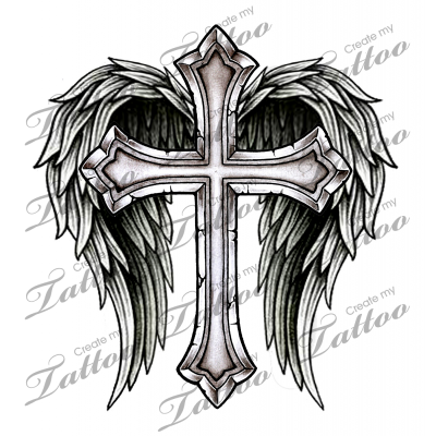 Tattoo Cross With Wings Crafts Tatuajes Cruz Tatuajes Tatuaje