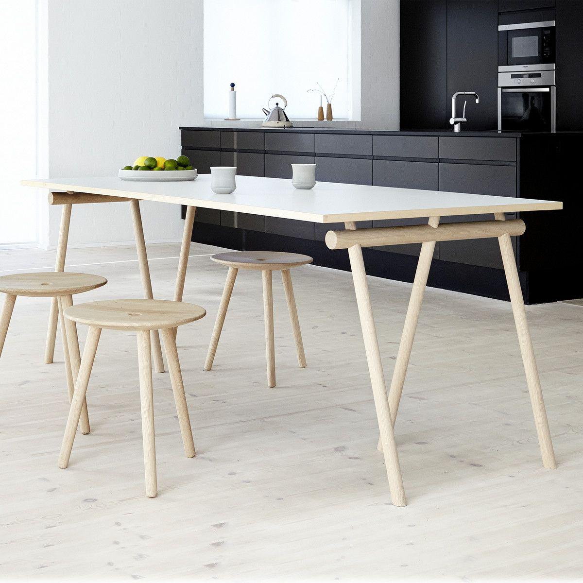 applicata stick trestle tischb cke 2er set eiche. Black Bedroom Furniture Sets. Home Design Ideas
