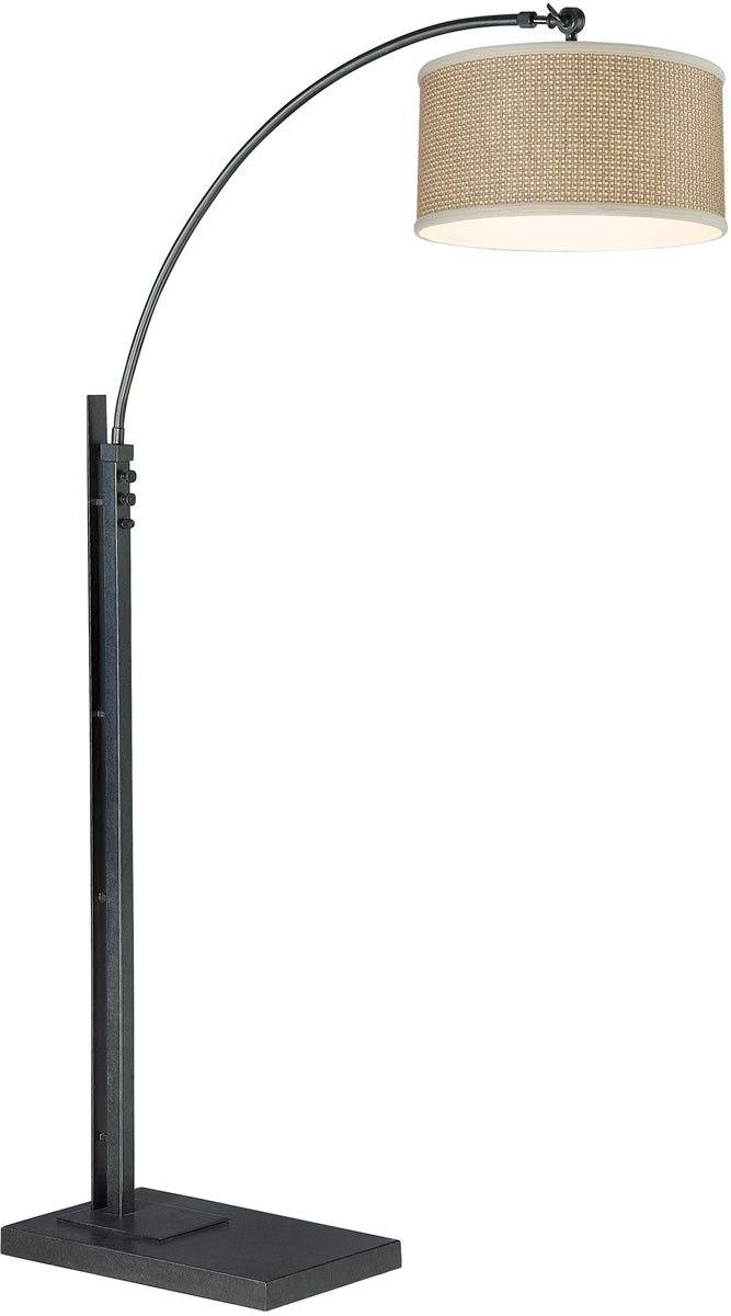 "0-175595>76""""h Zen 1-Light Floor Lamp Olde World Iron"