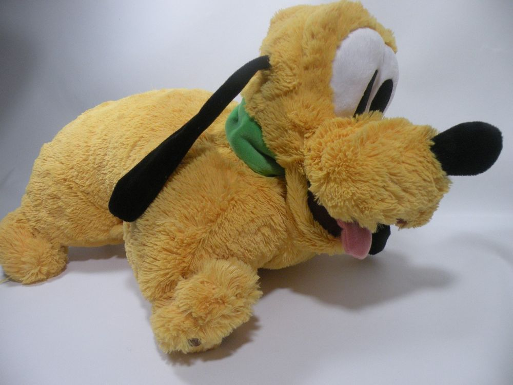 Disney World Disneyland Authentic Pluto Puppy Dog Yellow Pillow Pet Feet Plush Tierkissen Hunde Welpen