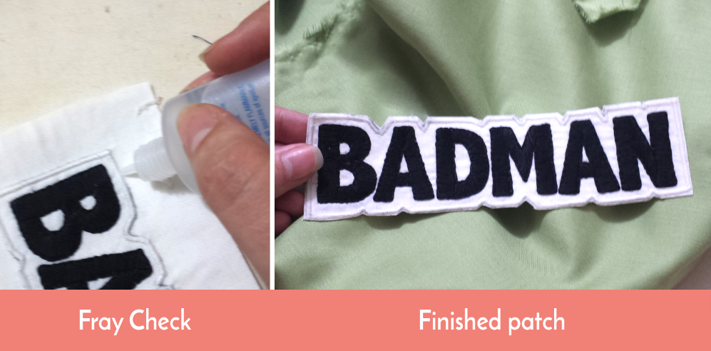 How to make an embroidered patch without an embroidery machine