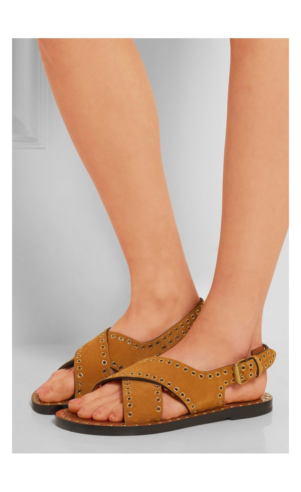 Isabel Marant Jane Studded Suede Sandals Sale jZvnx