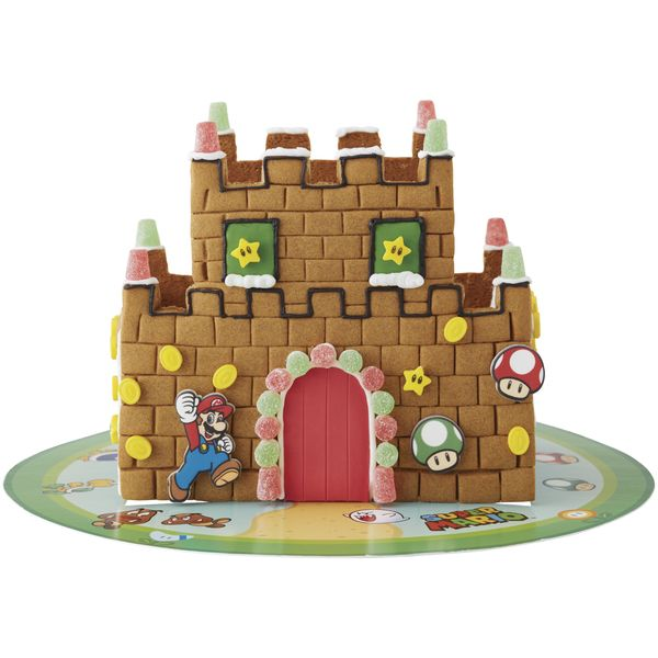 Walmart selling Super Mario Bros. Gingerbread Castle Kit   This Wilton Pre-Baked Christmas Decorating Kit is a wonderful choice for the holidays. Create magical memories by decorating these pre-baked cookies and serve them to guests at a winter party. Wilton Nintendo Mario Bros. Gingerbread Castle Kit.  - Kit includes materials you need to build and decorate your Super Mario Castle - Pre-Baked Gingerbread - Assembly Required  Grab yours here  from GoNintendo Video Games